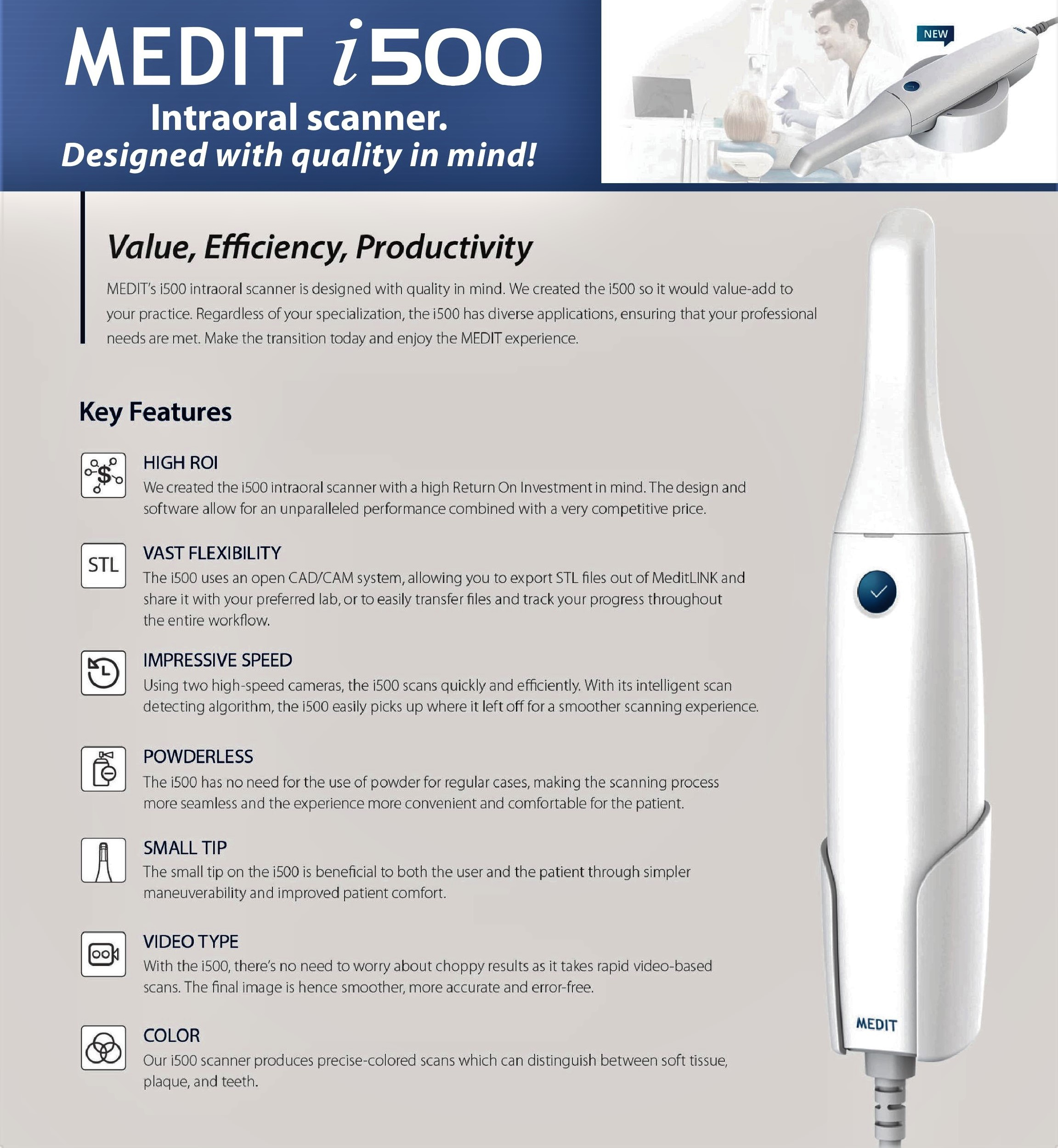 Medit I500 Intraoral Scanner