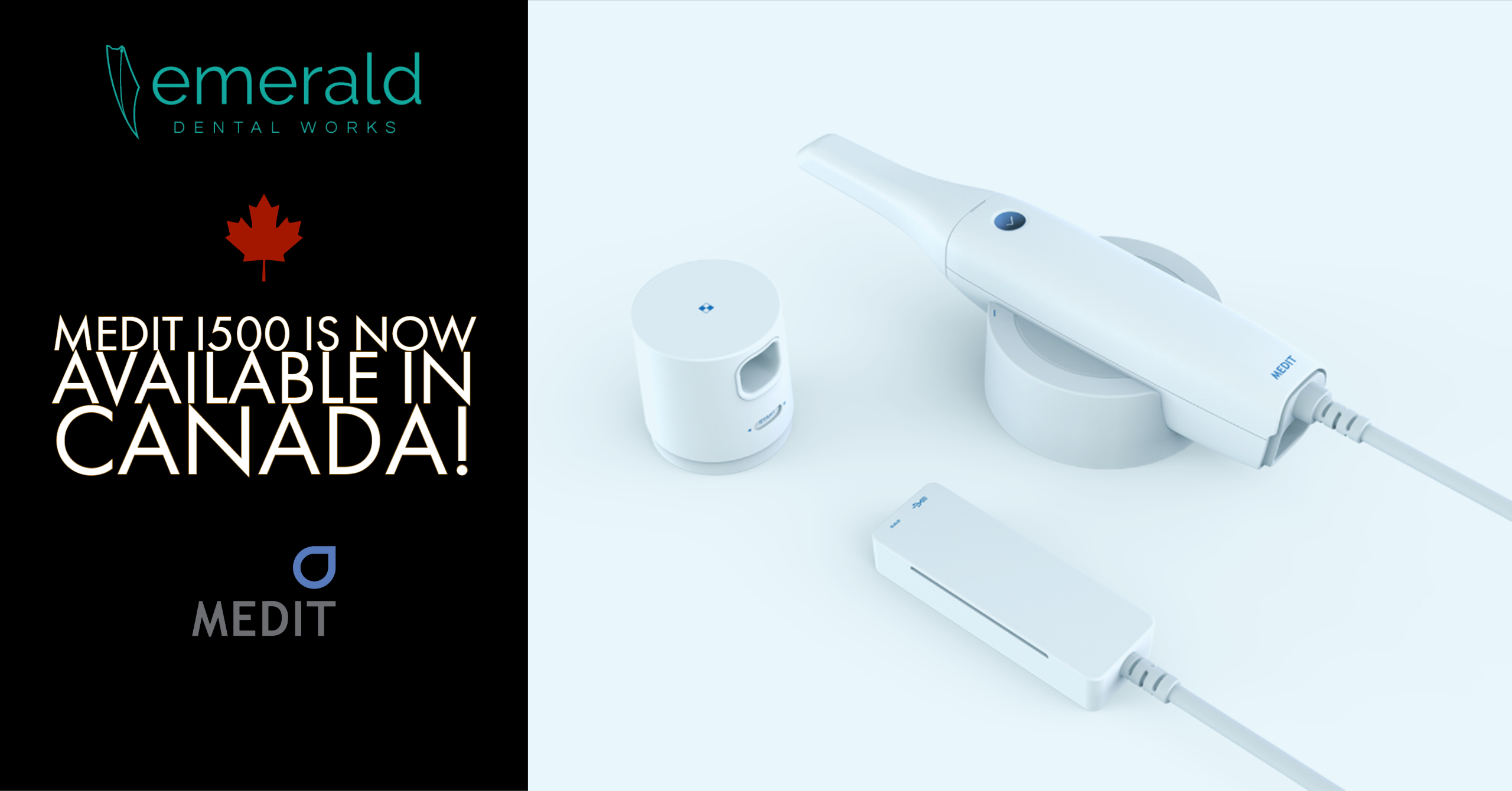 Medit i500 Intraoral Scanner is Now Available in Canada
