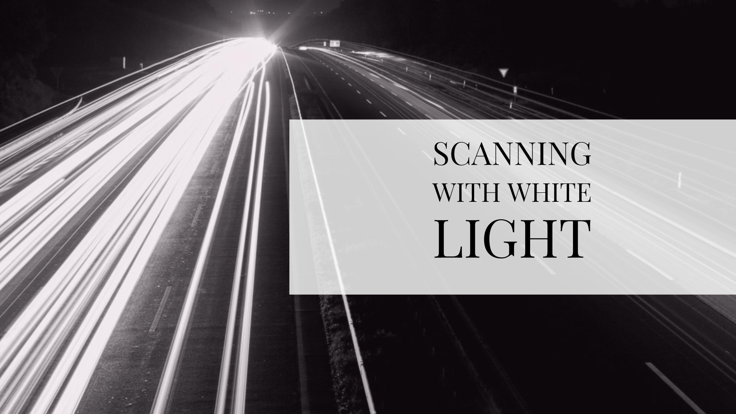 Scanning Reflective Surfaces (Gold or Metal) with White Light